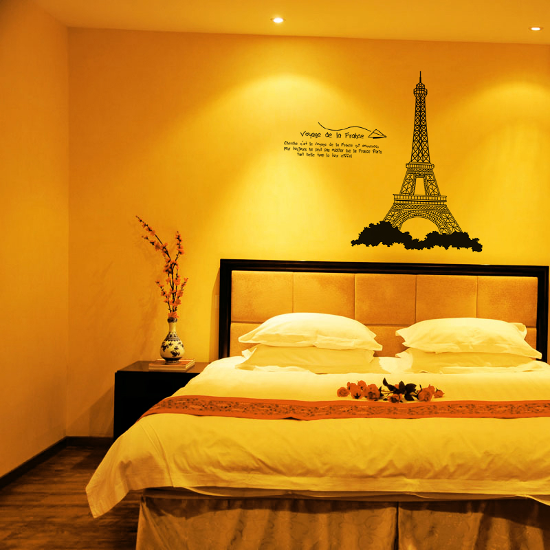 Hot Deal wall stickers 3D Paris Eiffel Tower Vinyl Art Decal Mural ...