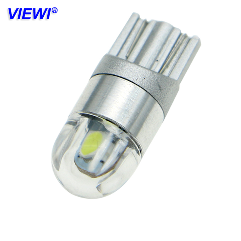Viewi 10X T10 W5W 168 501 Dc 12v led car lights Wedge Interior Dome Reading Light 3030 2 leds Auto Parking Bulbs Turn Side Lamps