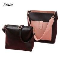 Messenger Women PU Leather Handbags Women Two Piece Bag Handle Bags Fashion Messenger Bags Handbag Bag