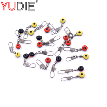 10Pcs/lot House Beans Fishing Connector Float Connector Rolling Swivel Fishing Provides with Field Carry Fishing Deal with device