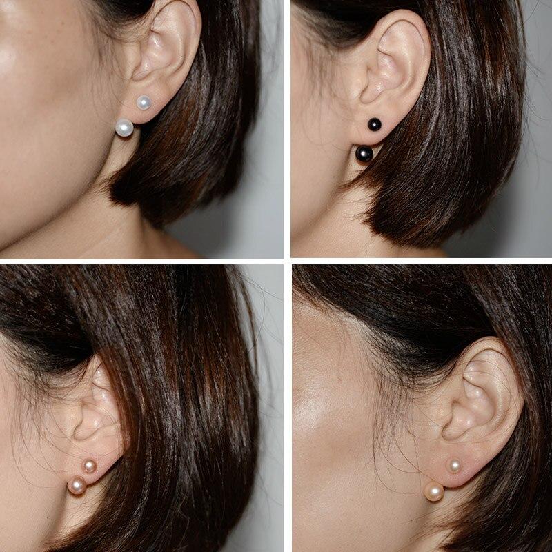 YIKALAISI 925 argint sterlină naturale oblate bijuterii perla - Bijuterii de moda - Fotografie 4