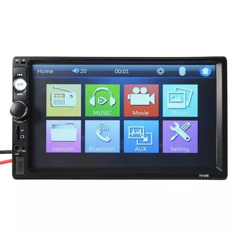 7 インチ 2 Din タッチスクリーン車のラジオミラーリンク Bluetooth MP3 MP5 マルチメディアプレーヤー USB/AUX オートラジオステレオリアビューカメラ
