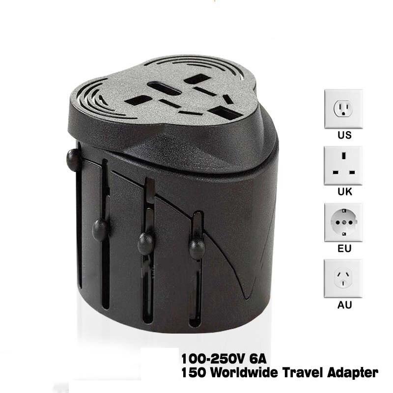 Adaptador de Tomada Internacional Plugue elétrico Tomada Universal AC World Travel Charger Power Adaptor AU EUA REINO UNIDO UE Plug Conversor