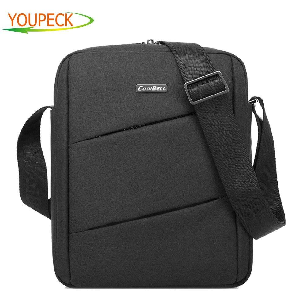 CoolBell Slim Nylon Fabric Case Portable font b Laptop b font Shoulder Bag Carrying Sleeve Messenger