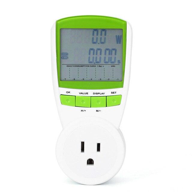 TS 838 LCD Energy Meter Power Metering Socket Plug Smart Voltage ...