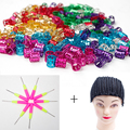 hair beads for braids dreadlocks hair tube with cap perruque pour la fabrication with tools for hair extension hair hackle