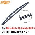 Qeepei lâmina do limpador traseiro sem braço para mitsubishi outlander 3 2010 a partir de 12 ''4 porta SUV B1-30 Iso9000 Alta Qualidade de Borracha Natural
