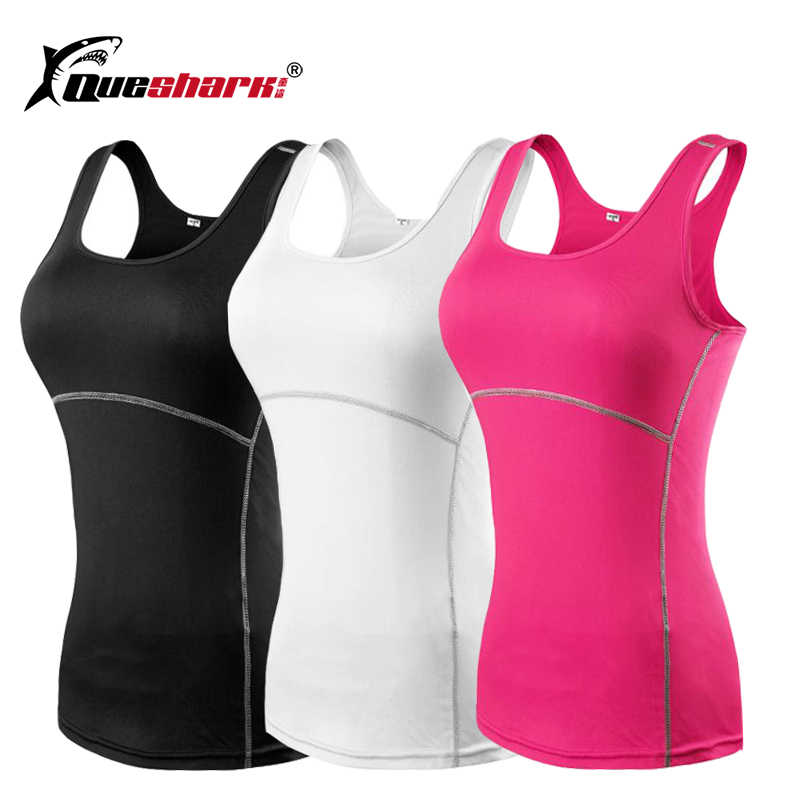 a56473ed403 Sport Women Compression Cropped Wear Gilet Yoga Tank Tops Ladies Gym  Fitness Workout Stretch Shirts Skin