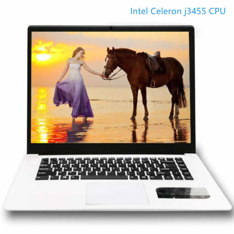RAM 8GB + Tặng 60G/120G/240G/480G SSD Laptop laptop 15.6inch ĐÈN LED 16:9 HD 1920x1080P Intel Celeron J3455 Quad Core HD Graphics Win10