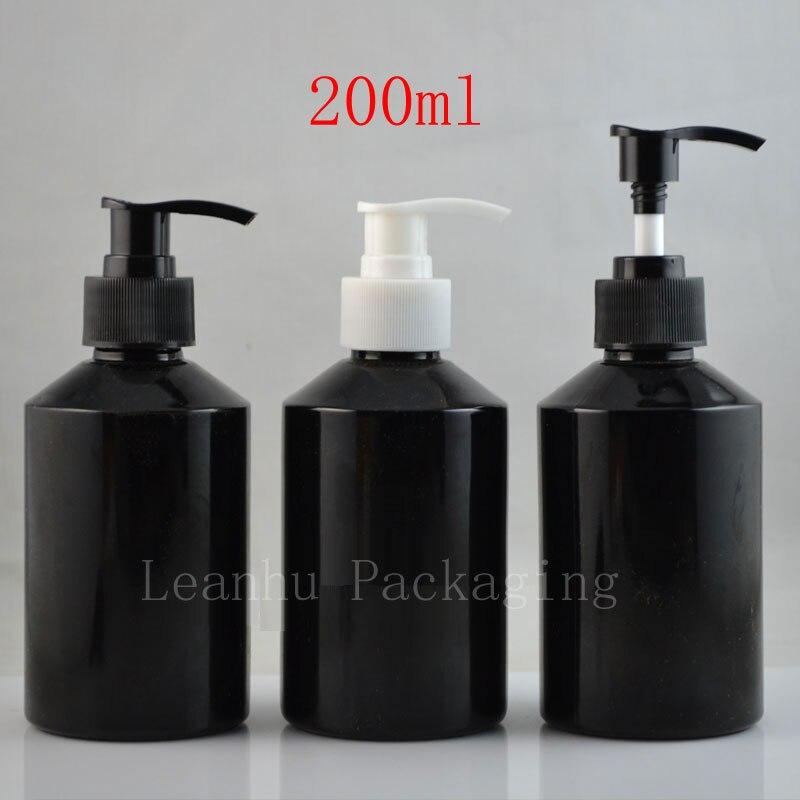 200 مللي مضخة محلول فارغة شامبو زجاجات معاد تدويرها لتعبئة مستحضرات التجميل 200g الصابون ضغط موزع مضخة عبوات زجاجية