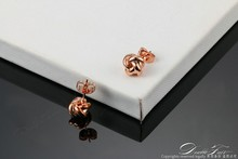 Double Fair Cute Love Twist Stud Earrings Silver/Rose Gold Color Fashion Jewelry For Women Knot Post Earring Wholesale DFE103