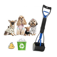 Foldable Long Handle Pets Waste Picker Dog Cat Poop Scoop Cleaning Tool Pick Up Waste Dog