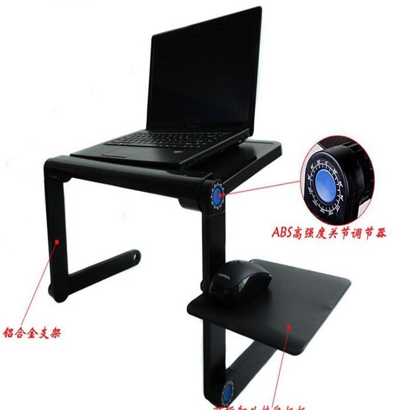 En gros multifonctionnel ordinateur portable bureau lit pliant tablette PC bureau avec ventilateur USB et tapis de souris - 2