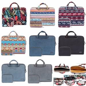 "Image 1 - Laptop Bag For Macbook Pro 15 15.4"" Case Pro 13 Retina 11 12 13 Portable Handbag 14 15.6 bag for Dell HP Xiaomi Notebook Shell"
