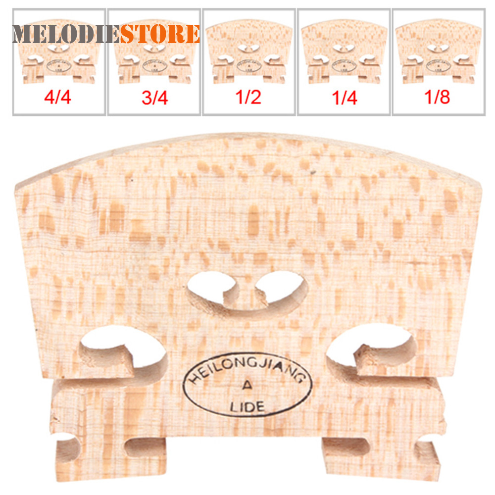 Maple Wood Acoustic Violin Bridge Regular Type 1/8 1/4 1/2 3/4 4/4 Size Musical Instruments Parts Accessories