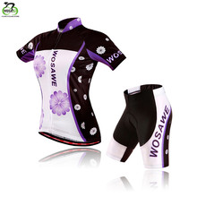 WOSAWE 2015 women cycling jersey sets clothing Bicycle bike maillot ciclismo sportwear