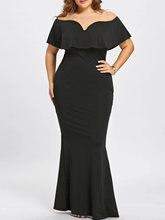 Elegant Plus Size Off The Shoulder Mermaid Dress for Women