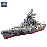 KAZI Models Building Toy Compatible With Lego K82012 1297pcs KM Battleship Blocks Toys Hobbies For Boys