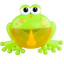 лучшая цена Baby Bath Toy Bubble Machine Big Frogs Automatic Bubble Maker Blower Music Bubble Maker Bathtub Soap Machine Toys For Children
