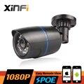 Xinfi HD 2.0 MP CCTV POE cámara de visión nocturna de interior / exterior impermeable CCTV de la red 1920 * 1080 P cámara IP P2P ONVIF vista remota