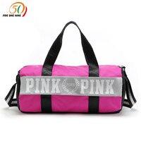 Fashion Girl Stripe Duffle Bag Pink Victoria Beach Shoulder Bag Large Capacity Secret Overnight Weekender Vs