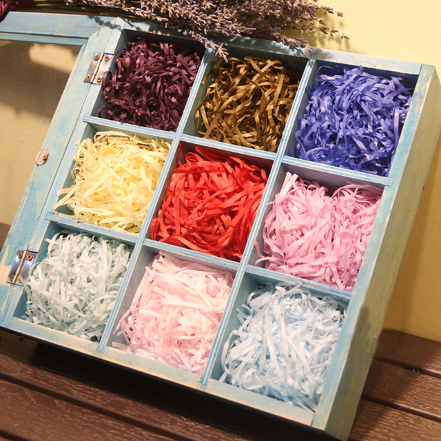20g Bag Shredded Raffia Crinkle Paper Confetti Dry Straw Gifts Candy Box Filling Material Wedding Birthday Party Decoration
