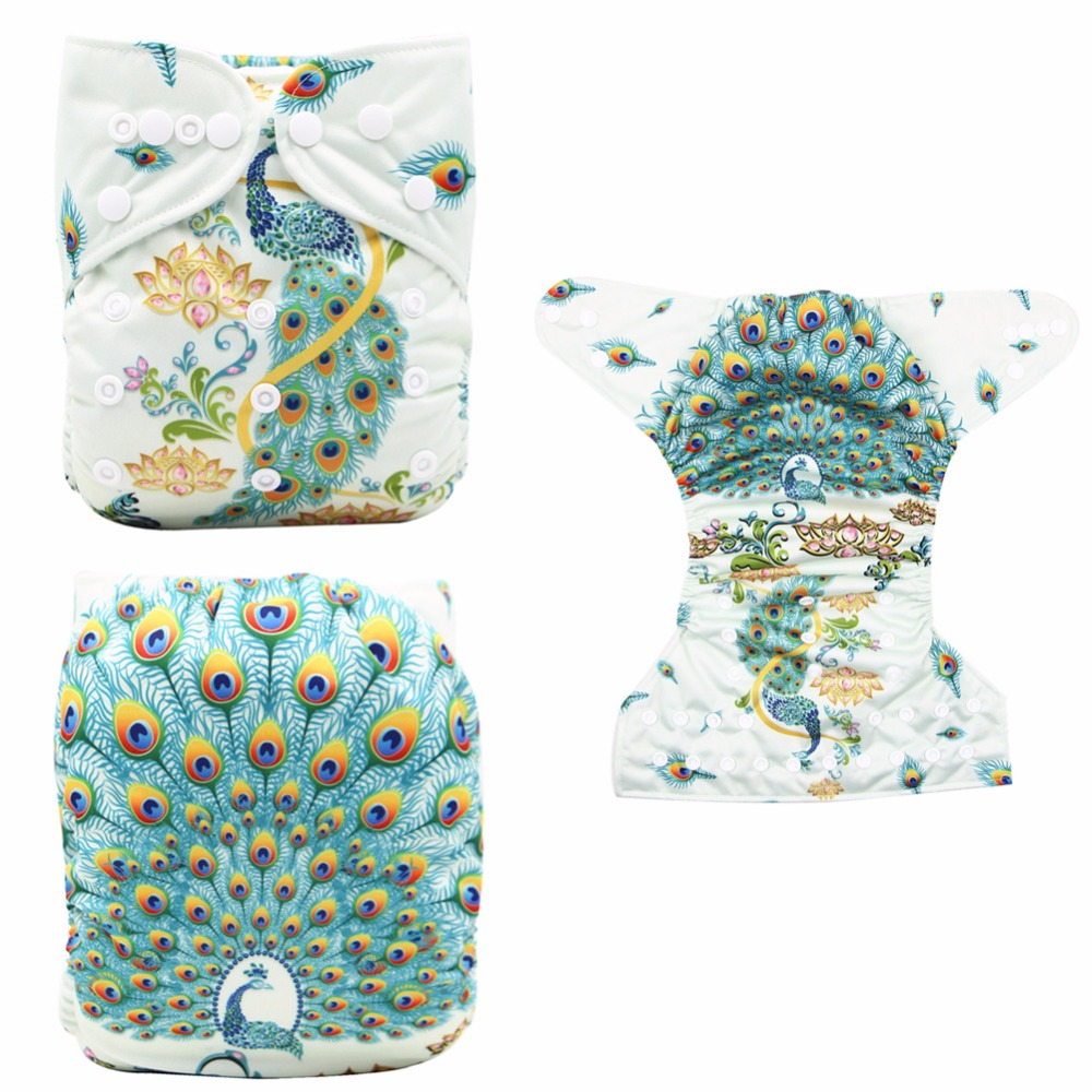 New Baby Reusable Nappies Baby Diaper Waterproof OS Newborn Diaper Cloth Fits for NB to 13kgs