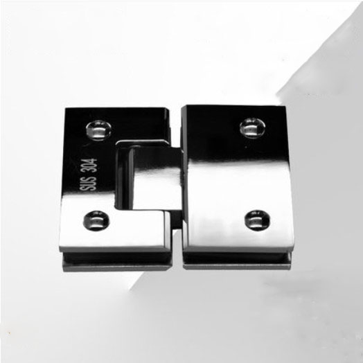 1pcs glass door hinge Stainless steel 180 degree hinge shower room accessories bathroom clip hinged frameless glass door clip