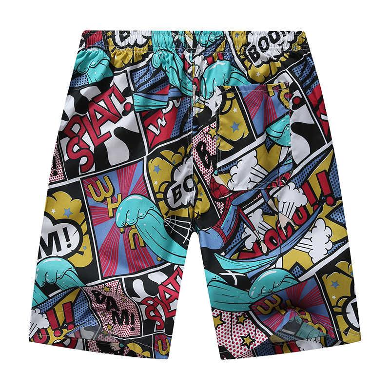 2020 men board shorts verão praia calções de banho secagem rápida calças curtas impresso respirável calções de surf esportes board shorts