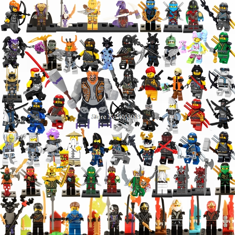 Blocks Model Building Legoing Ninjago Building Blocks Ninja Kai Jay Cole Zane Nya Samurai X Master Of Golden Dragon Legoings Figures Ninjagoing Toys