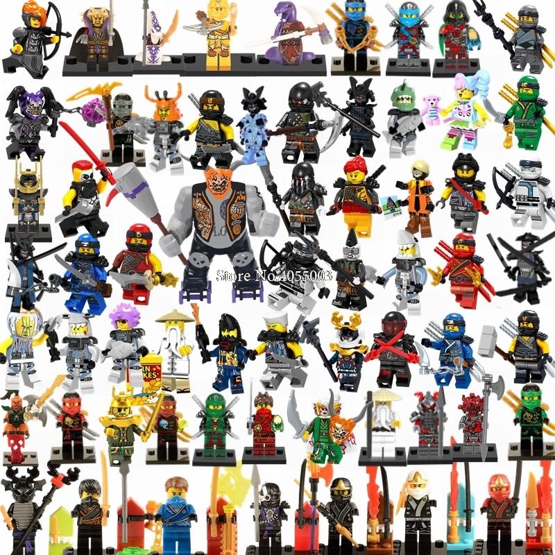 Legoings Ninjago Sets Ninja Heroes Kai Jay Cole Zane Nya Lloyd With Weapons Action Figures Toys For Children Legoing Ninjagoings