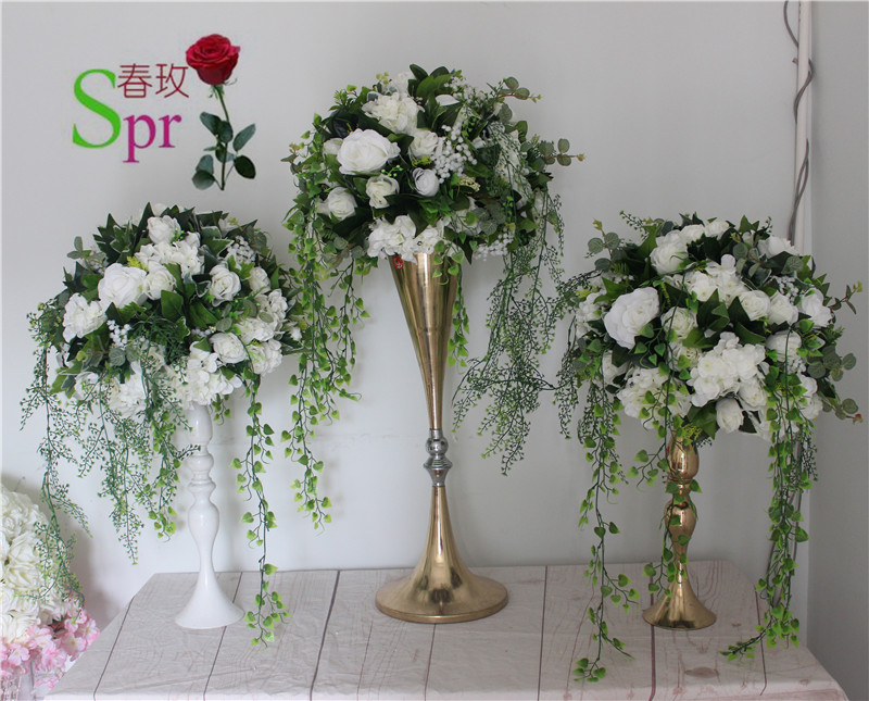 SPR wedding table center flower ball  road lead artificial flore  centerpiece  wedding backdrop flower decoration