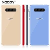 XGODY S10 мобильный телефон 5,5 дюймов 18:9 Оперативная память 2 Гб Встроенная память 16 Гб MT6580 4 ядра двойной Камера Android 8,1 3g смартфон
