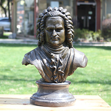лучшая цена Musician Bach bronze sculpture portrait Bust Statue Figure decoration craft gift art Home Furnishing decorations