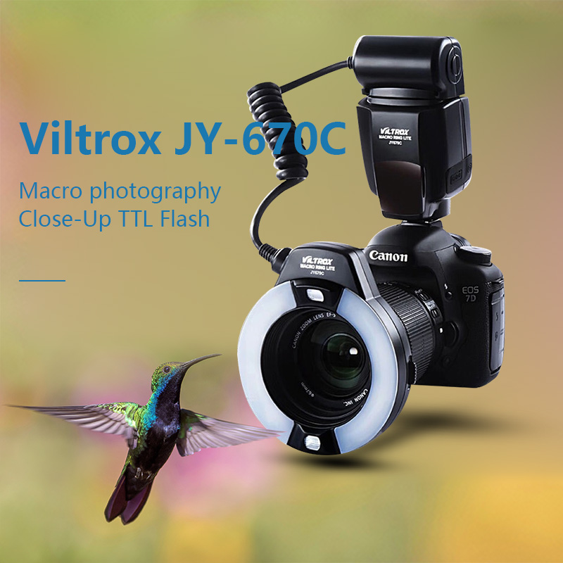 Viltrox JY-670C Flash Macro photography Close-Up TTL Flash Speedlite for Canon Camera 750D 650D 600D 60D 80D 70D 7D 5DIII 5DIV
