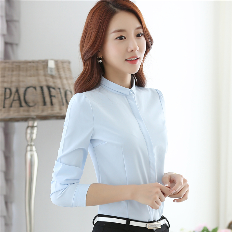 d8fd910045fc 2016 New Elegant fashion Long Sleeve women Chiffon shirt Tops Office Work  Wear Women Blouses 880D 33-in Blouses   Shirts from Women s Clothing    Accessories ...