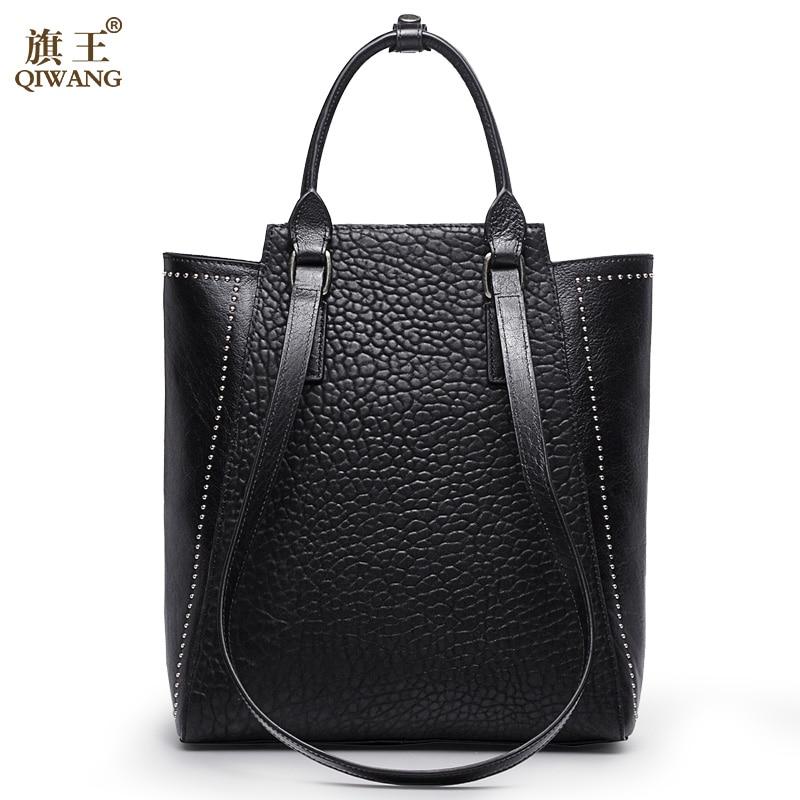 كبيرة برشام المرأة حقيبة الصين العلامة التجارية حقيبة يد مع طويلة أعلى مقابض حزام يد جلد حقيقي المرأة حقيبة الأزياء-في حقائب قصيرة من حقائب وأمتعة على  مجموعة 1
