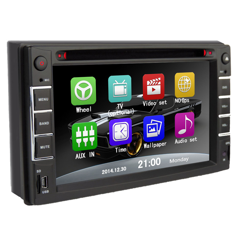 6216 2 DIN car dvd player Free shipping DVD player CD MP3 MP4 FM AM USB