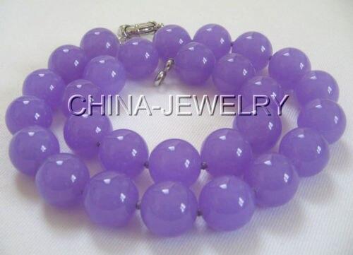 5675b84721fa Precio al por mayor 16new   hermosa 17 14mm natural redondo collar de piedra  púrpura