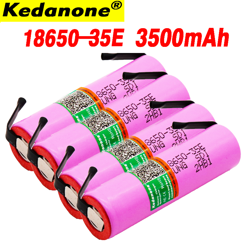 2019 For Samsung 18650 3500 MAh 13Adischarge INR18650 35E INR18650-35E 18650 Li-ion 3.7 Battery Rechargeable Battery + DIY Nicke