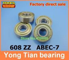 1000pcs/lot Free Shipping 608ZZ ABEC 7 8X22X7 608Z vigor dragon plate wheel gliding skates drift plate board special bearings