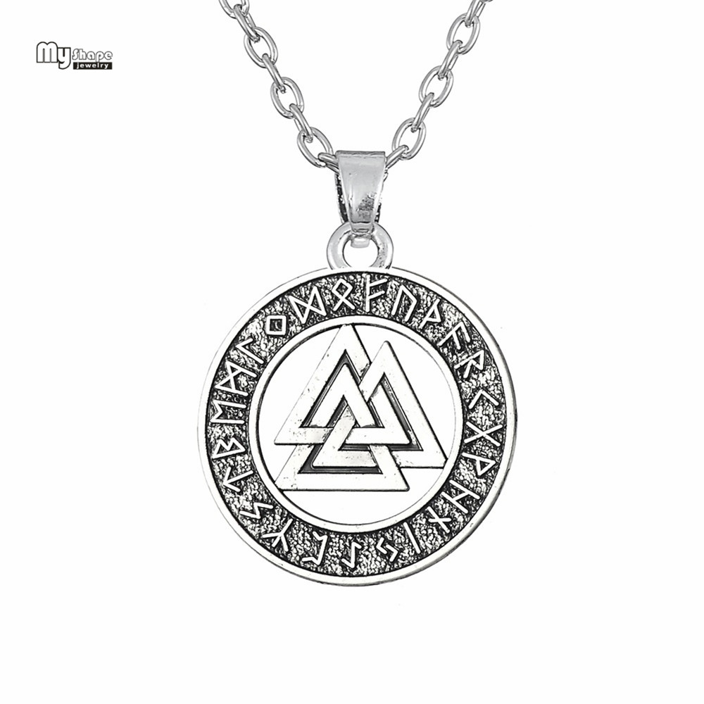 My Shape Viking Nordic Runes Amulet Statement Necklace Odin Knot