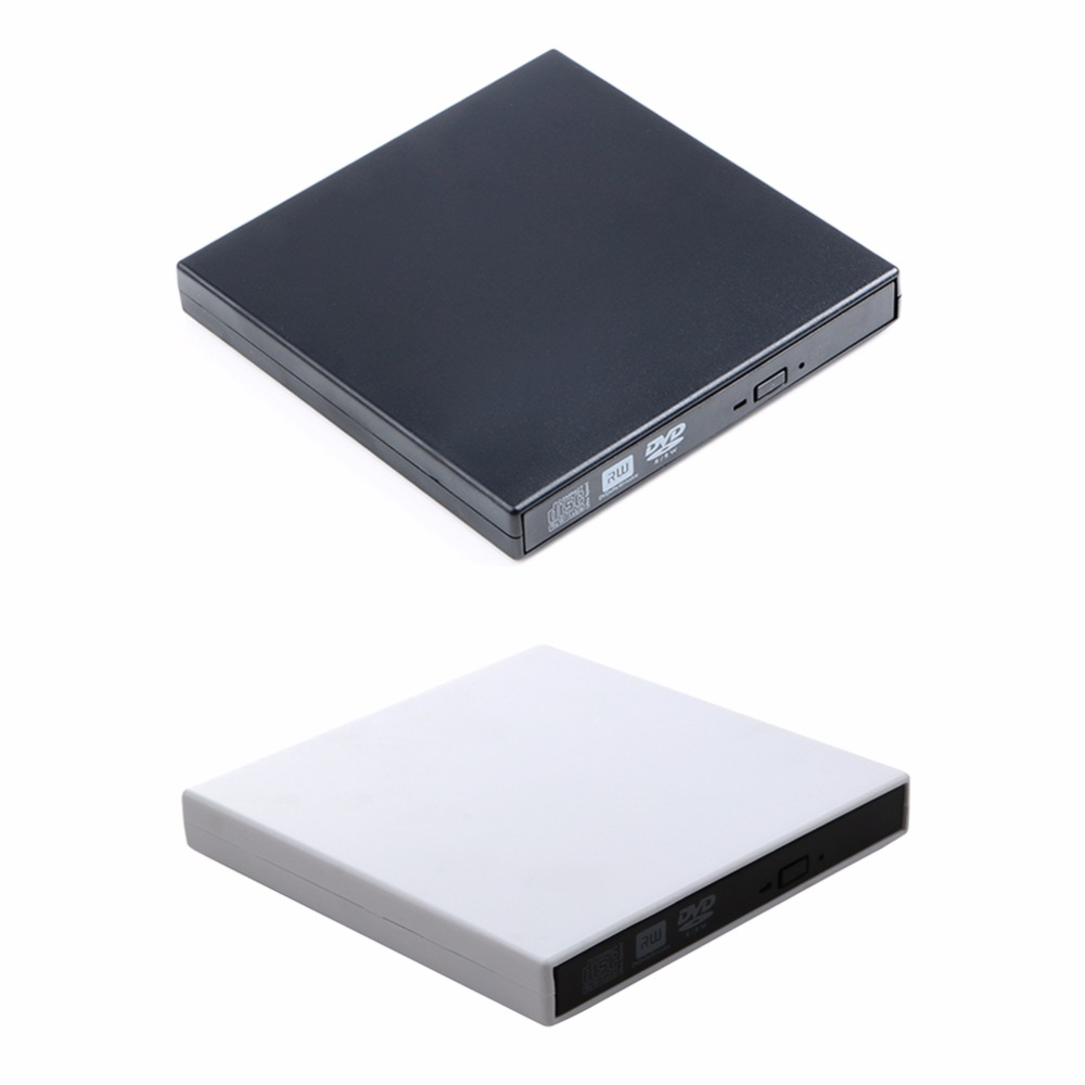 USB 2.0 External CD-Rom/CD-RW/Combo/DVD-Rom Burner Drive Writer with USB Data Cable for Mac Laptop Notebook PC Desktop Computer