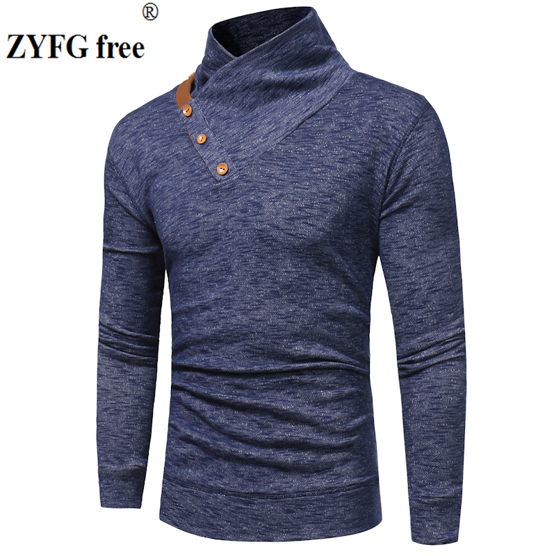 New Arrivals Knitwear Sweater Spring Men's Casual Pullovers Solid Color Stand Neck Knitting Sweater Men EU/US Size M-3XL Tops