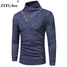 New Arrivals knitwear sweater spring mens casual pullovers solid color stand neck knitting men EU/US size M-3XL Tops