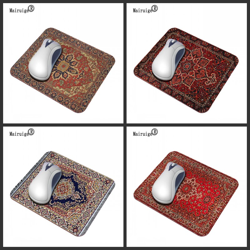 Mairuige Hot New Red Pattern 29 * 25CM Persian Carpet Fashion Mouse Pad Anti-slip Rubber Game Laptop Color PC Washable Pad