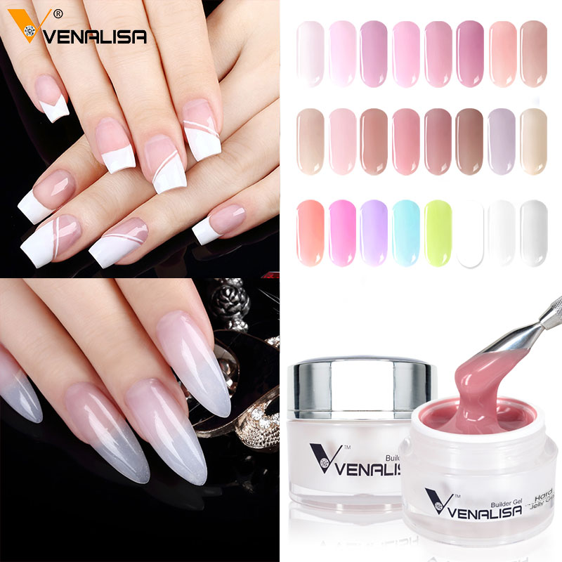 Image 5 - VENALISA 15ml Hard Jelly Gel 24 Camouflage Color CANNI Nail Art Manicure Quality Poly Gel Nail Builder Extending Hard UV LED Gel-in Nail Gel from Beauty & Health
