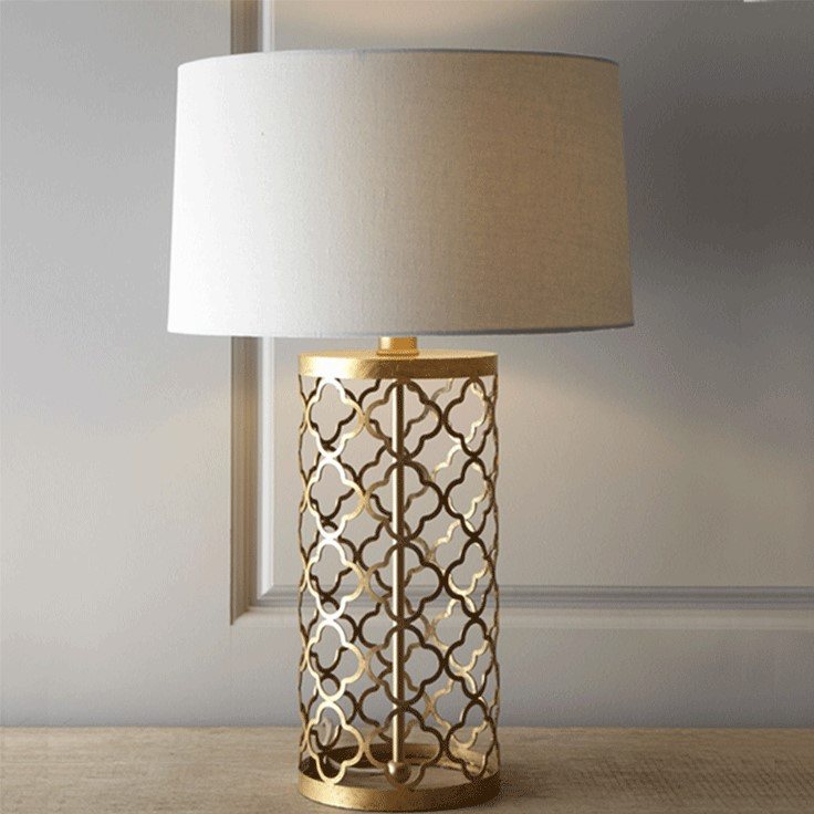 Loft Vintage Modern Iron Fabric Gold Table Lamps Industrial Bar Coffee Bedside Reading Home Decor Lighting Fixture Bedside Lamp