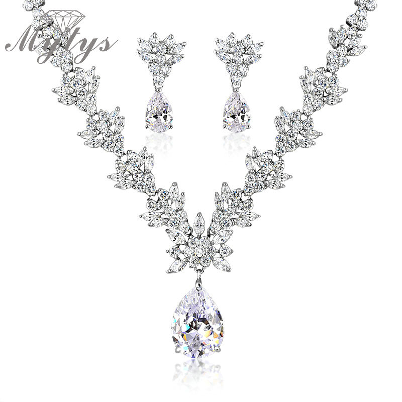 High Quality Crystal Jewelry Sets Pendant Ne and Drop Earrings Sets High Quality Spark Shining Crystal Sets Jewelry CN154