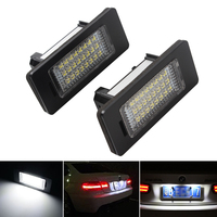 3W Light Source 24 LED Car Styling Super Bright Number Plate Light A Pair For BMW